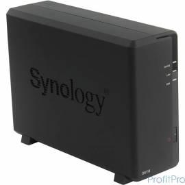 Synology DS118 Сетевое хранилище 1xHDD DC1,4GhzCPU/1Gb, SATA(3,5&apos&apos)/2xUSB3.0/1GigEth/iSCSI/2xIPcam(upto 15)/1xPS