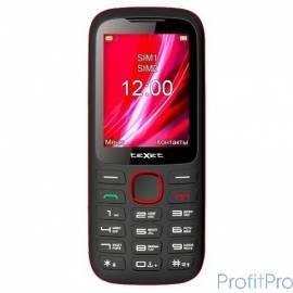 TEXET TM-D228 мобильный телефон цвет черный-красный (140066)