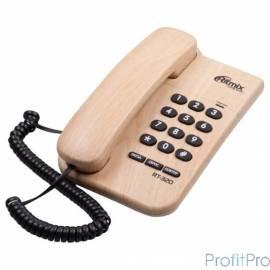 RITMIX RT-320 light wood телефон проводной повторный набор номера, настенная установка, регулятор громкости