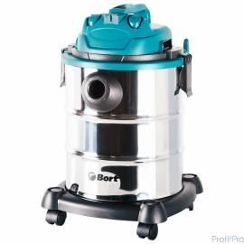 Bort BSS-1325 Пылесос строительный [91272218] 1300 Вт, вместимость 25 л, 29 л/сек, 5,3 кг, набор аксессуаров 6 шт