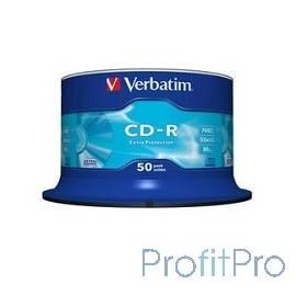 Verbatim Диски CD-R 50 шт. 48/52-x 700Mb, Cake Box (43351)