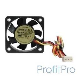 Gembird Вентилятор 40x40x10, 3pin, шнур 7см, [D40SM-12A]