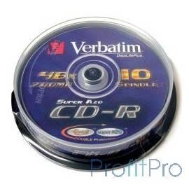 VERBATIM Диски CD-R 80 52x CB/10 (43437)