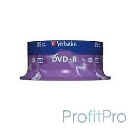 Verbatim Диски DVD+R 4.7Gb 16х, 25 шт, Cake Box (43500)
