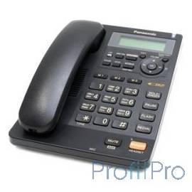 Panasonic KX-TS2570RUB (черный) ЖКД, АОН,однокноп.набор 3 ном., автодозвон, спикерфон, порт для доп. оборуд.