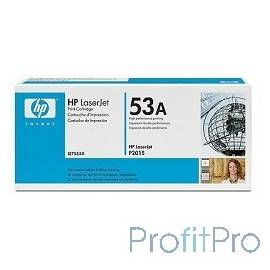 HP Q7553A Картридж ,BlackLaserJet P2015, Black, (3000 стр.)