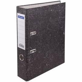 Папка-регистратор OfficeSpace, 70мм, мрамор, бюджет, черная