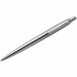 "Ручка гелевая Parker ""Jotter Stainless Steel CT"" черная, 0,7мм, кнопочный механизм, подар.уп."