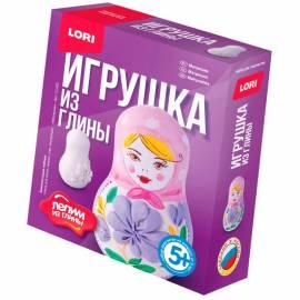 """Набор для изготовления игрушек из глины Lori """"Лепим из глины. Матрешка"""", от 5-ти лет, картон"""