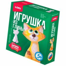 """Набор для изготовления игрушек из глины Lori """"Лепим из глины. Кот"""", от 5-ти лет, картон"""