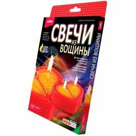 """Набор для лепки свечей Lori """"Свечи из вощины. Сердце в подарок"""", картонная коробка"""