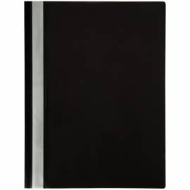Папка-скоросшиватель пластик. OfficeSpace, А4, 120мкм, черная с прозр. верхом