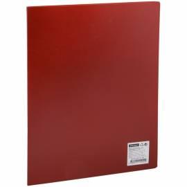 Папка с пластиковым cкоросшивателем OfficeSpace, 15мм, 500мкм, красная