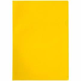 Папка-уголок OfficeSpace, A4, 100мкм, прозрачная желтая