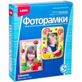 """Набор для изготовления фоторамок из гипса Lori """"Фрукты-ягоды"""", картонная коробка"""