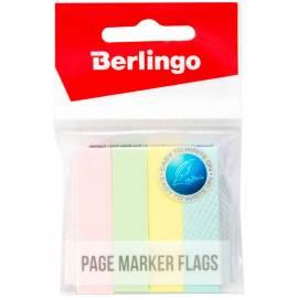 Флажки-закладки Berlingo 12*50мм, 100л*4 пастельных цвета, европодвес