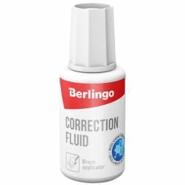 Корректирующая жидкость Berlingo, 20мл, на химической основе, с кистью