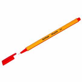 """Ручка капиллярная Berlingo """"Rapido"""" красная, 0,4мм, трехгранная"""