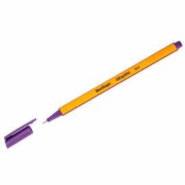 """Ручка капиллярная Berlingo """"Rapido"""" фиолетовая, 0,4мм, трехгранная"""