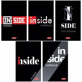"""Блокнот А7 48л. на склейке Hatber """"INSIDE"""", 3-х цветный блок"""