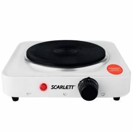 Электрическая плитка Scarlett SC-HP700S01, 1 конфорка, 1000Вт, белая