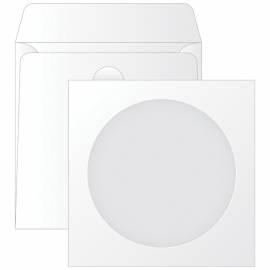 Конверт бумажный 125*125мм для CD, KurtStrip, с окном, декстрин