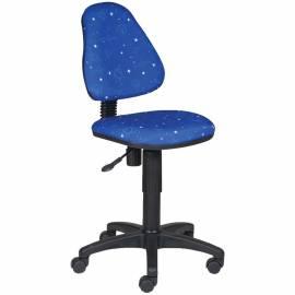 Кресло детское Бюрократ KD-4/Cosmos синий космос, без подлокотников