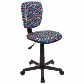Кресло детское Бюрократ CH-204NX/PENCIL-BL синий карандаши, без подлокотников