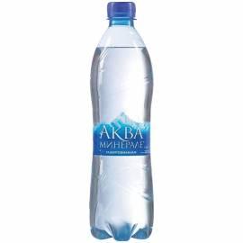 Вода минеральная газированная АкваМинерале, 0,6л, пластиковая бутылка