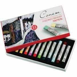 Пастель художественная Сонет, 12 цветов, картон. упак.