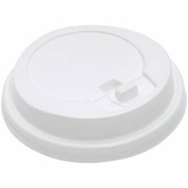 Крышка белая с носиком для стакана Huhtamaki, d- 80мм (для кода 177155)
