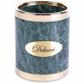Стакан для карандашей Delucci, зеленый мрамор
