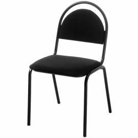 """Стул Furniture """"Стандарт"""", каркас металл черный, обивка ткань черная"""