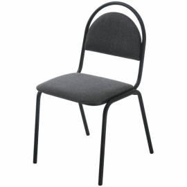 """Стул Furniture """"Стандарт"""", каркас металл черный, обивка ткань серая с черным"""