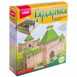 """Конструктор из деревянной соломки Lori """"Гардарика. Городские ворота"""", от 6-ти лет, картонная коробка"""