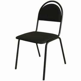 """Стул Furniture """"Стандарт"""", каркас черный, обивка кожзам черный"""