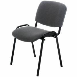 """Стул Furniture """"Изо"""", каркас черный, обивка ткань серая"""