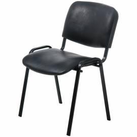 """Стул Furniture """"Изо"""", каркас черный, обивка кожзам черный"""