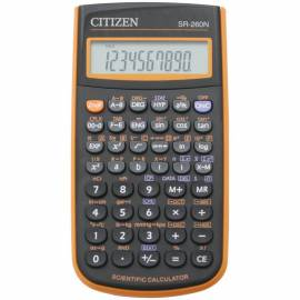 Калькулятор научный Citizen SR-260NOR 10+2 разр., 165 функц., пит. от батарейки, 78*150*13мм, оранж.