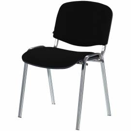 "Стул Furniture ""Изо"", каркас металл хром, обивка ткань черная"