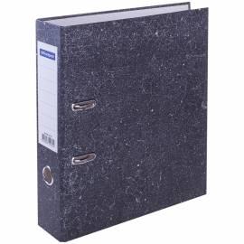 Папка-регистратор OfficeSpace, 70мм, мрамор, черная