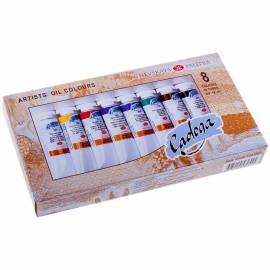 Краски масляные Ладога, 08 цветов, 18мл/туба, картон