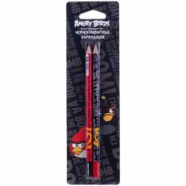 """Карандаш ч/г Hatber """"Angry Birds"""" НВ, 2шт., заточен., в блистере, европодвес"""