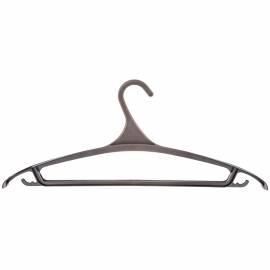 Вешалка-плечики для легкой верхней одежды Мультипласт, пластик, р.52-54, черная