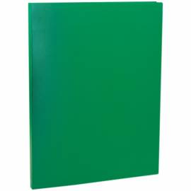 Папка с пружинным cкоросшивателем OfficeSpace, 15мм, 500мкм, зеленая