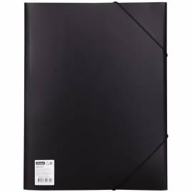 Папка на резинке OfficeSpace А4, 500мкм, черная