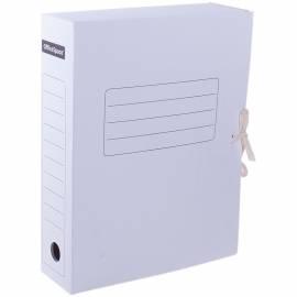 Папка архивная из микрогофрокартона OfficeSpace с завязками, ширина корешка 75мм, белый