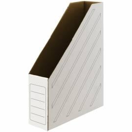 Накопитель-лоток архивный OfficeSpace (микрогофрокартон), ширина 75мм, белый