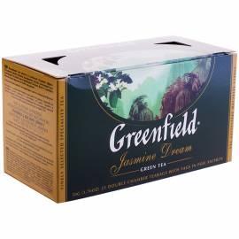 """Чай Greenfield """"Jasmine Dream"""", зеленый с жасмином, 25 фольг. пакетиков по 2г"""