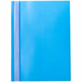 Папка-скоросшиватель пластик. OfficeSpace, А4, 160мкм, голубая с прозр. верхом